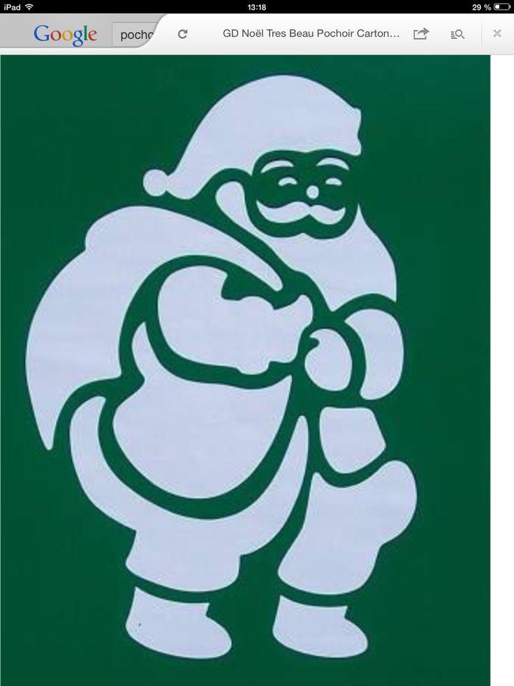 Pochoir père Noël