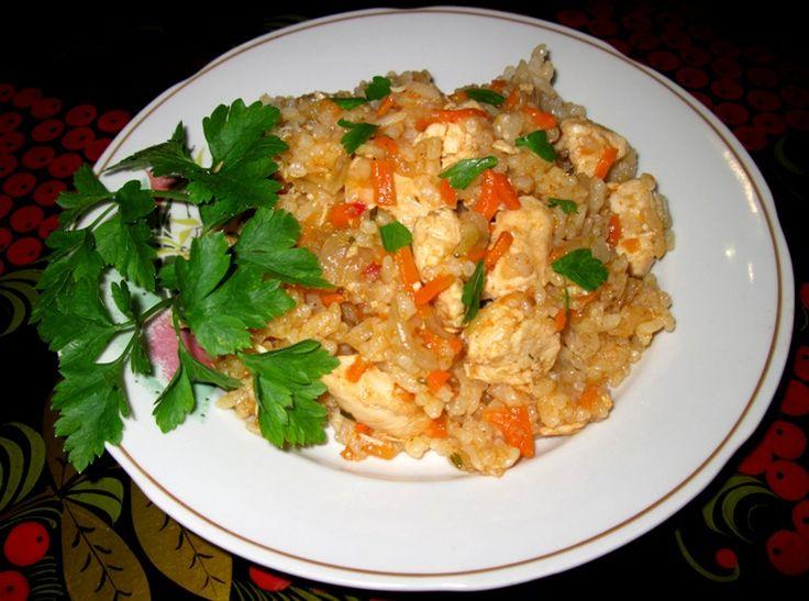 Курица с рисом по-быстрому