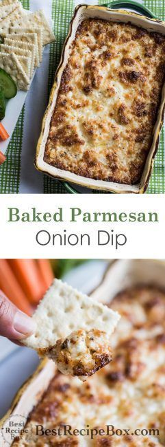 Baked Parmesan Onion Dip | Cheesy Hot Onion Dip @bestrecipebox