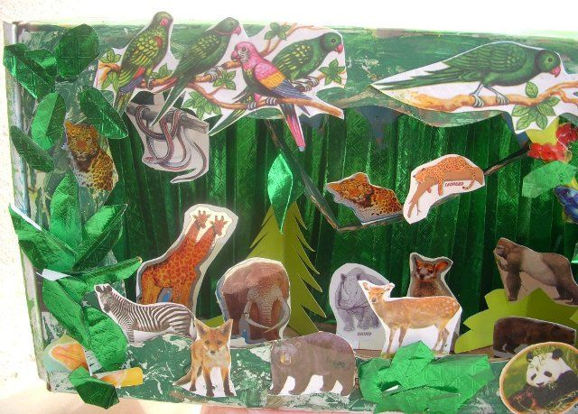 rainforest craft ideas for kids cards crafts projects jungle diorama stuff 7086