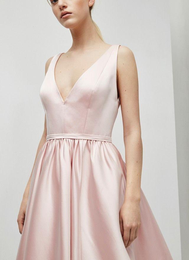 Adolfo Dominguez - VESTIDO SATINADO ROSA CUARZO http://www.adolfodominguez.com/es-mx/mujer/vestidos/long-dress-with-tulle-29320524362?c=2932052431#