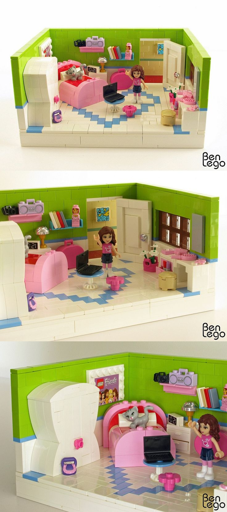 Olivia's Bedroom - the new Legos for girls are awesome!