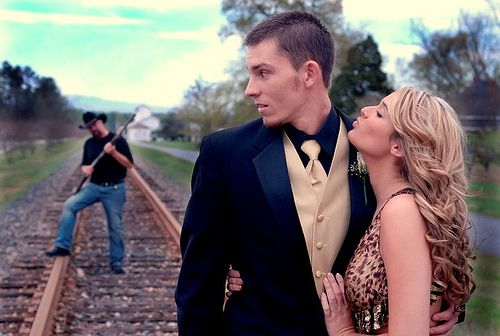 This picture is awesome. Will have to convince a future couple to do this in their prom/wedding pictures someday.