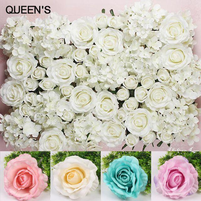 Artificial Silk Rose Heads Flores Falsas para Decoração de Casamento Diy Casa Acessórios de Decoração Flor Bouquet Fundo Da Parede Fazer