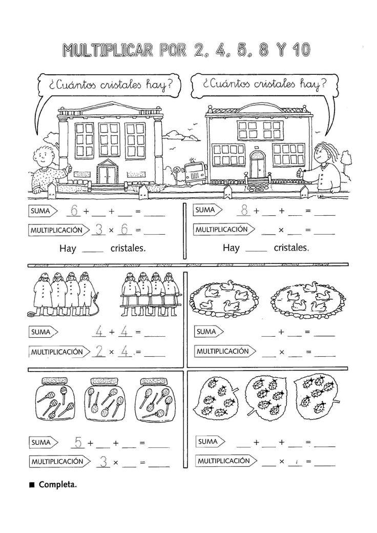 Actividades para niños preescolar, primaria e inicial. Multiplicaciones divertidas 1
