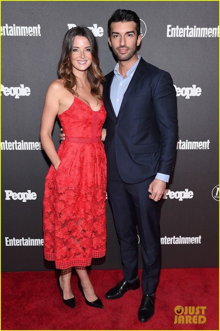 Justin Baldoni and his wife Emily Foxler at the Entertainment Weekly and People Upfronts 2016