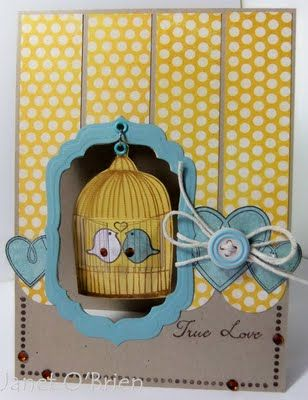 Cute! by Janet O BrienEngagement Invitations, Cards And Scrapbook, Birds Of Paradis, 3D Invitations, Wedding Invitations, Birds Cages Cards Scrapbook, Birdcages Cards, Invitations Ideas, Paper Cards