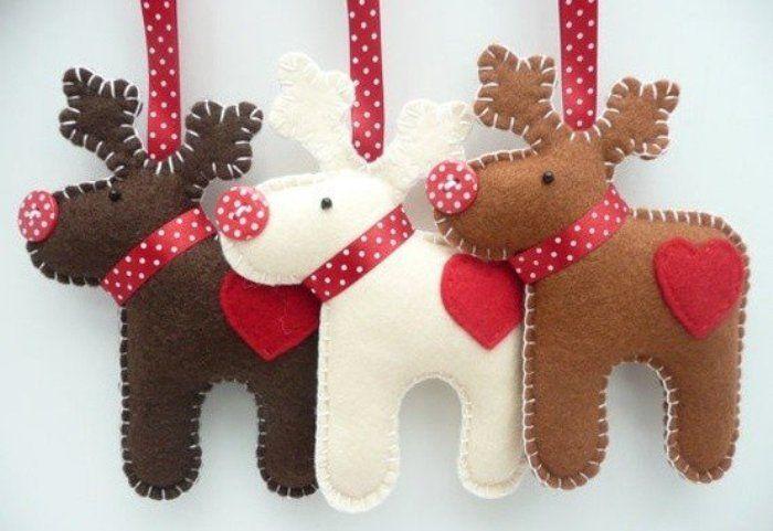 Decorazioni Natale fai da te col feltro