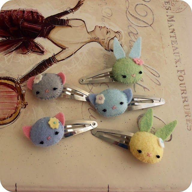 bunny barettes!!