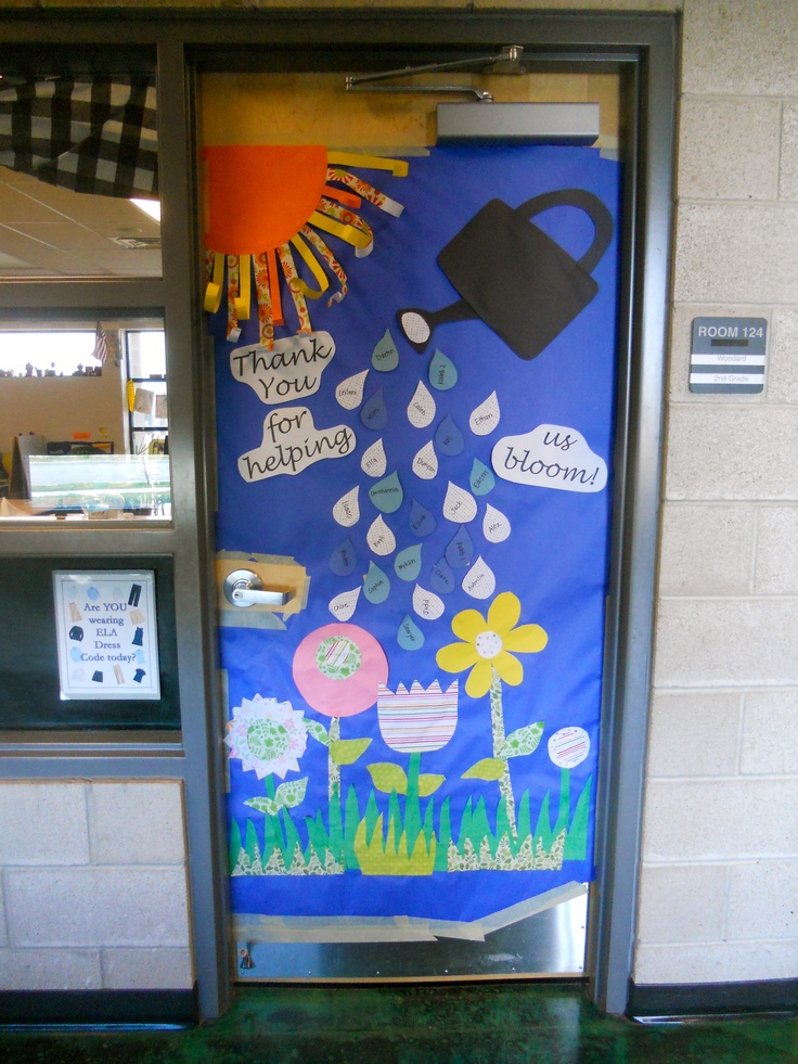 Quot Thank You For Helping Us Bloom Quot Door Decoration For