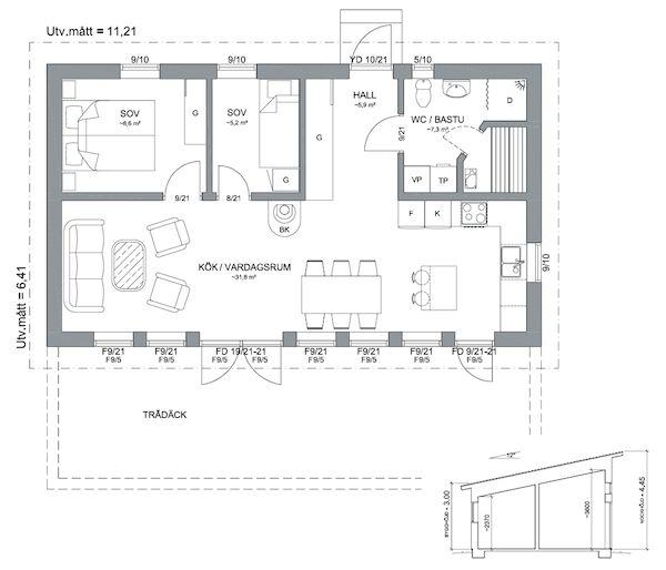 Bygga hus - bygga fritidshus - bygga villa » Våra husStil 72 från Hudikhus
