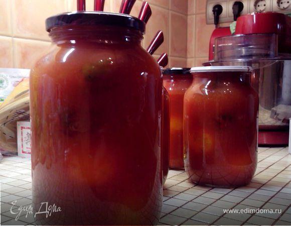 Помидоры в собственном соку. Ингредиенты: соль, сахар | Кулинарный сайт Юлии Высоцкой: рецепты с фото