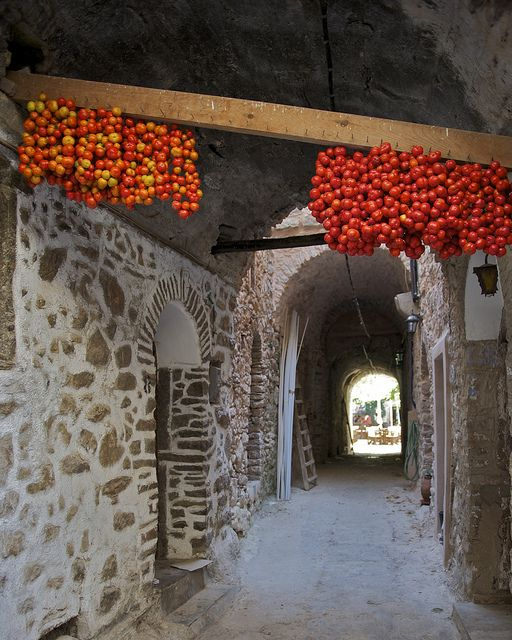 This is my Greece | Sun dried tomatoes in Mesta village on Chios island