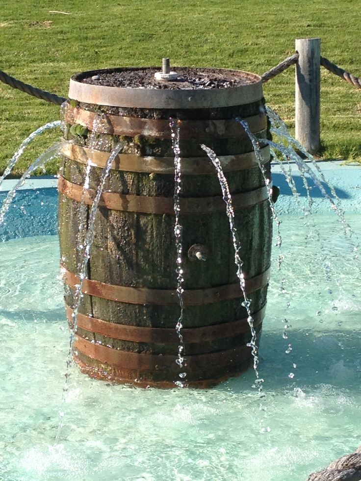 Cool Idea To Use A Wine Barrel For A Fountain