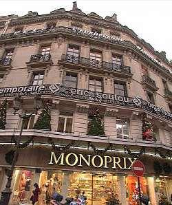 Monoprix.  71 rue Saint Antoine  75004 Paris   Neighborhoods: Bastille, Marais, 4ème  Metro: Saint-Paul, Bastille, Line 1
