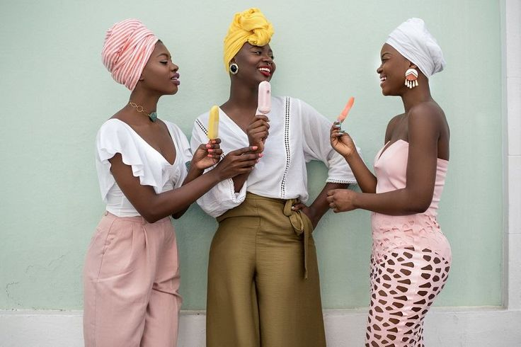 Black girls with Popsicles