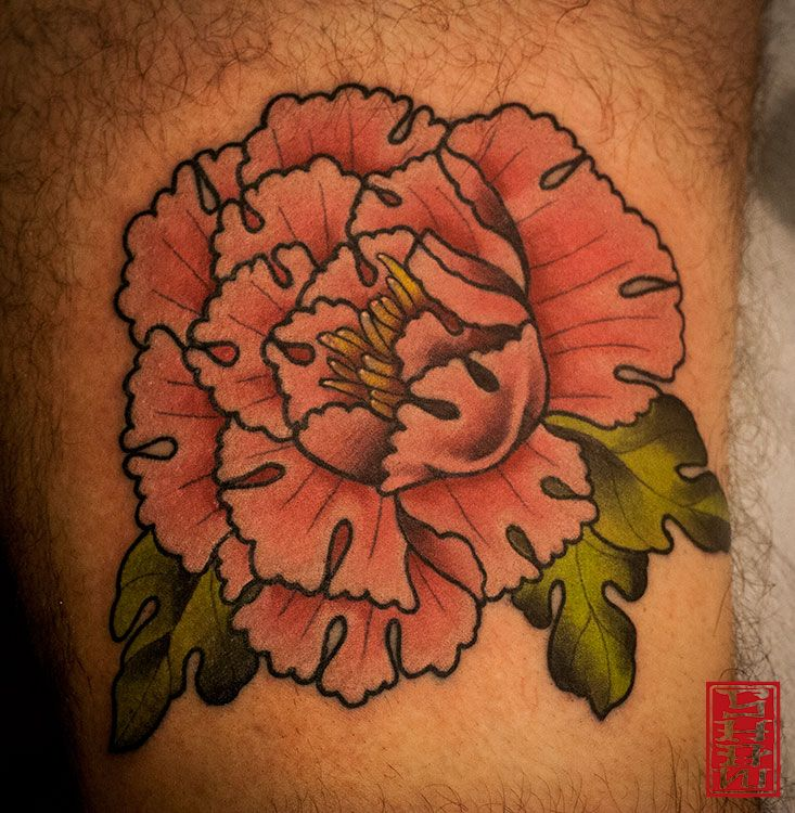 Tattoo by Stephen Shaw  #flowers #tattoos