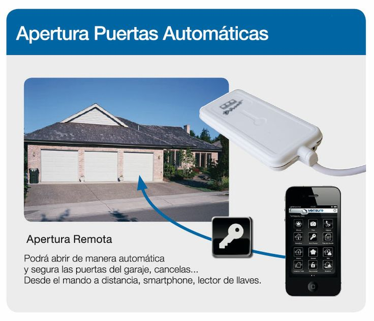 La apertura de puertas automáticas con la alarma Verisure podrá ser de manera automática y segura las puertas del garaje, cancelas... Desde el mando a distancia, smarphone o lector de llaves.