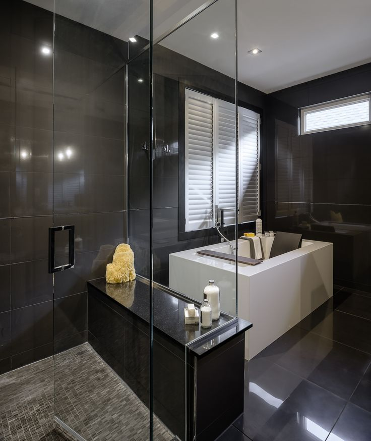 wow all black bathroom designed by astro design centre - Bathroom Design Ottawa