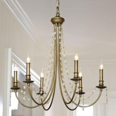 Adrian 6 light chandelier ballard designs casual for Casual dining chandeliers