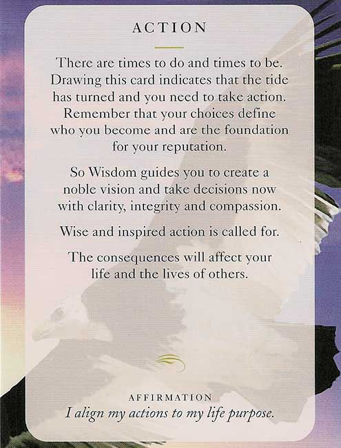"""ACTION"" Wisdom Card – Diana Cooper"