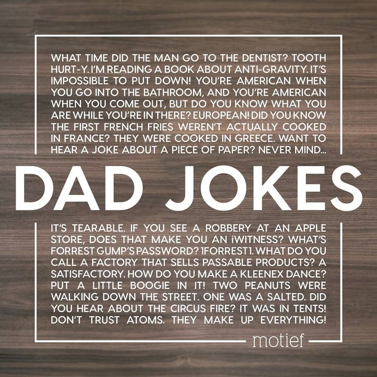 What better time to celebrate the heroes in our lives and the delightful art of telling corny dad jokes! Happy Father's Day!