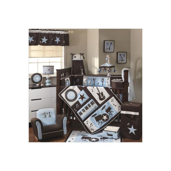 Music themed nursery bedding thenurseries for Rock n roll baby crib set