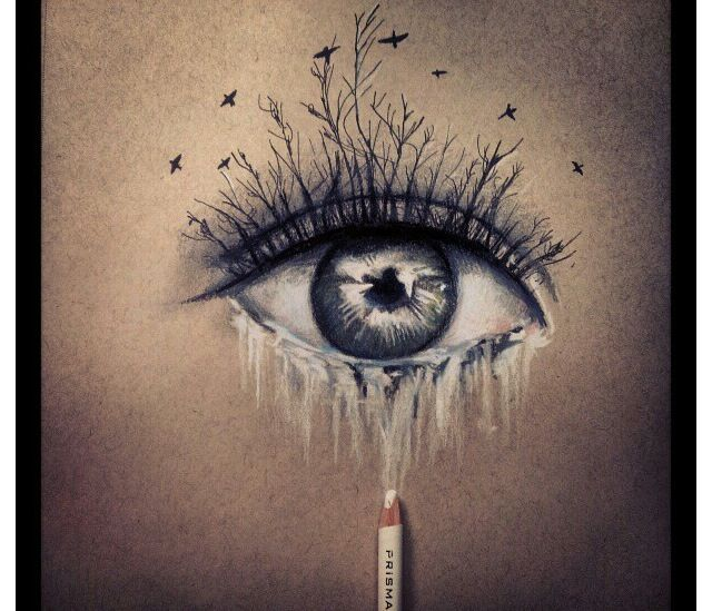 Love the imagination in this eye drawing!