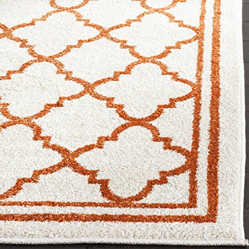 cool Safavieh Amherst Collection AMT422B Light Grey and Beige Indoor/ Outdoor Area Rug