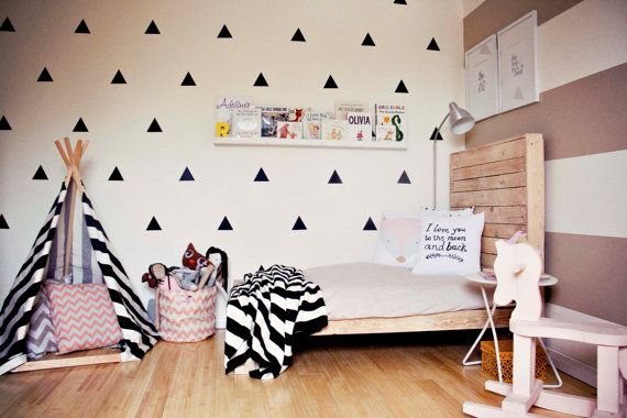 Vinyl Wall Sticker Decal Art  Triangles by urbanwalls on Etsy, $33.00