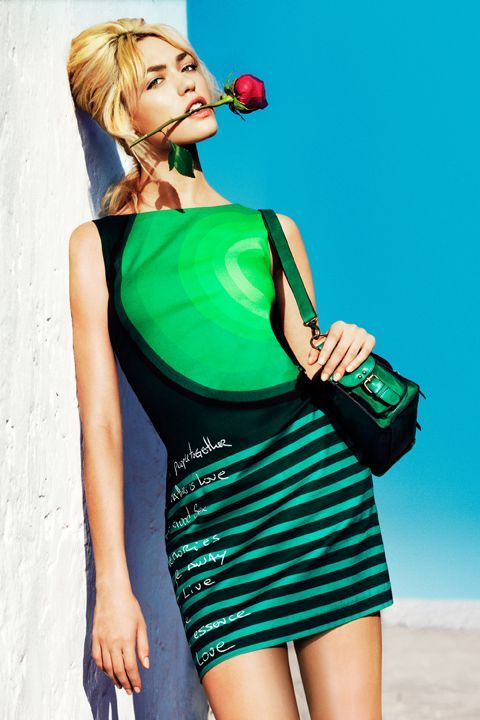 Desigual New collection 2013 for women  Green Dress