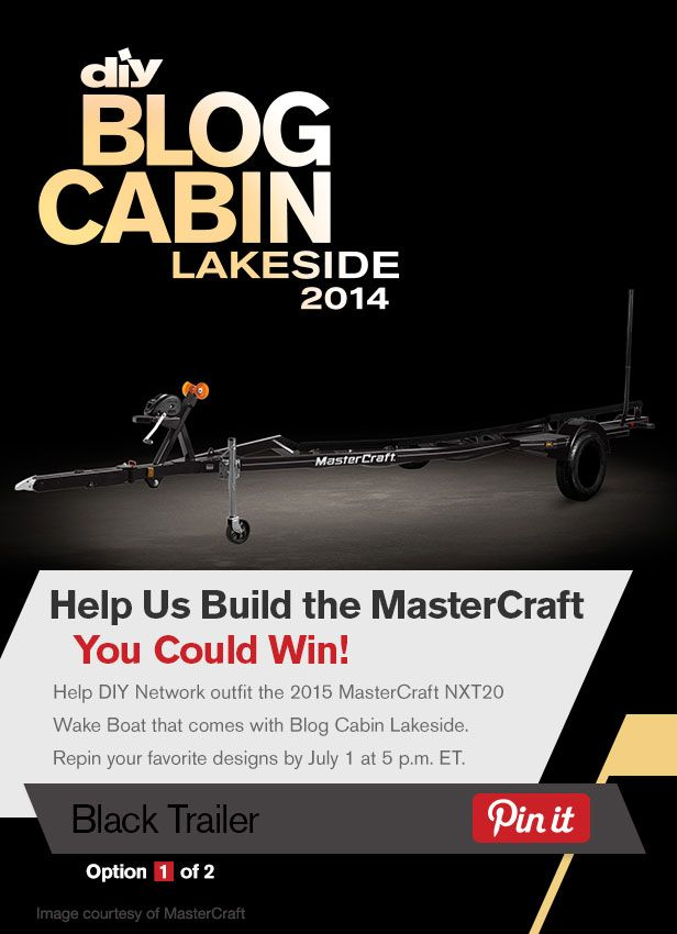 Help DIY Network outfit the boat that comes with Blog Cabin 2014! Repin and like your favorite designs by July 1.: Cabin Boats, Boats Trailers, Orange Black Boats, Diy'S, Cabin 2014, Boats Choice, Black Trailers, Blog Cabin2014, Black Purple
