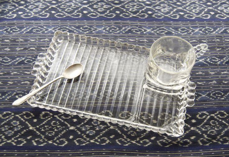 Hazel-Atlas Glass Company | ... glass snack sets, luncheon set 4 plates cups, Hazel Atlas Glass Co