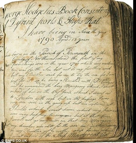 18th century sailor's diary - George Hodge spent 43 years at sea from 1790 to 1833