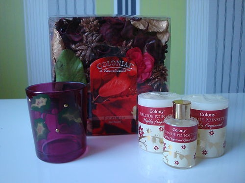 Poinsettia Scented Christmas Colony Candle Gift Set | eBay
