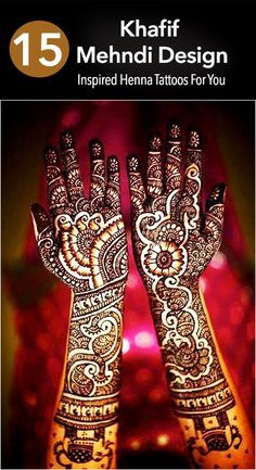 Khafif Mehndi Designs - 15 Inspired Tattoos For You In 2016