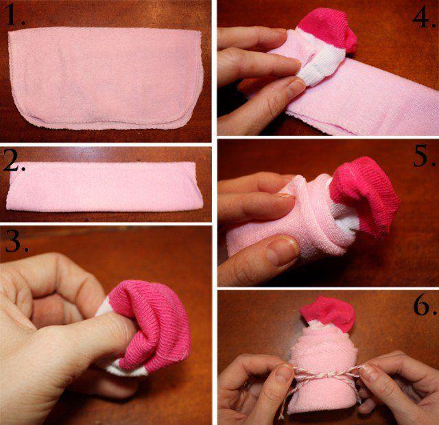 organiser-baby-shower-party-pliage-chaussette-cupcake-etape-par-etape
