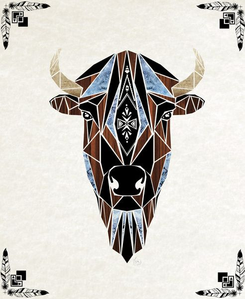bison Art Print by Manoou | Society6