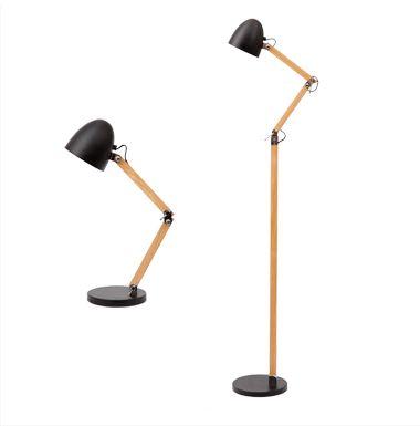 Pinocchio desk- and floor lamp