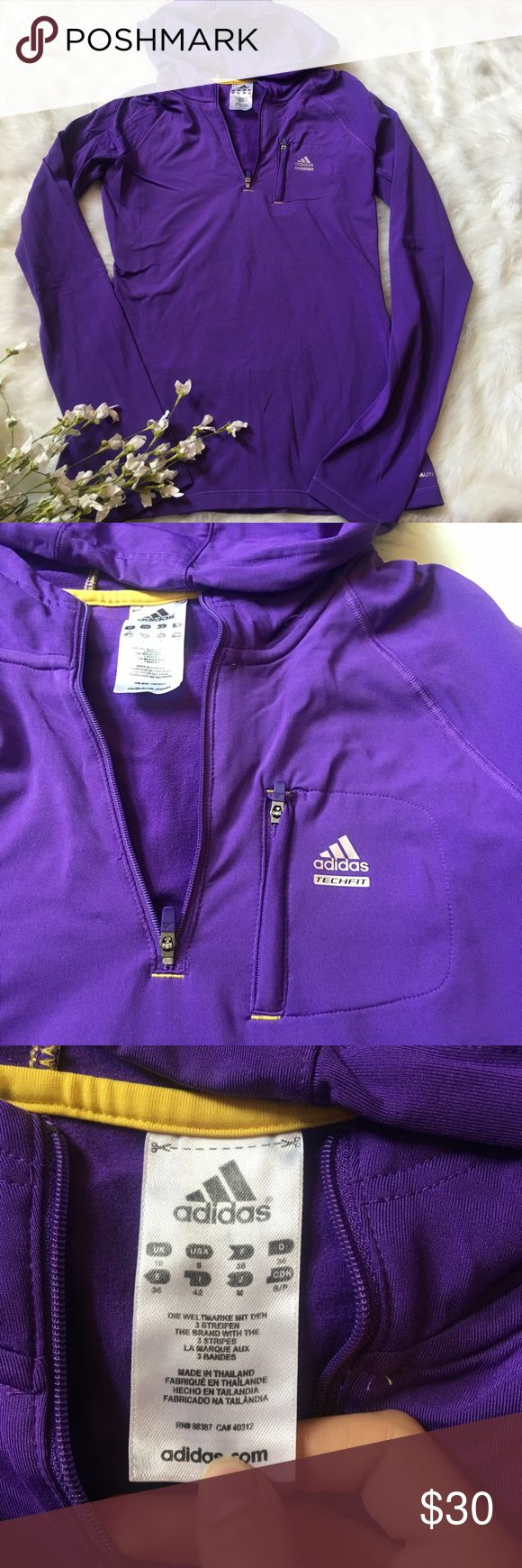 Adidas Purple Pullover Zip up hoodie No tears, rips,or holes, perfect condition, 20% off bundles, open to offer adidas Tops Sweatshirts & Hoodies