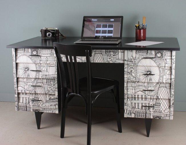 grand bureau meuble vintage toulouse