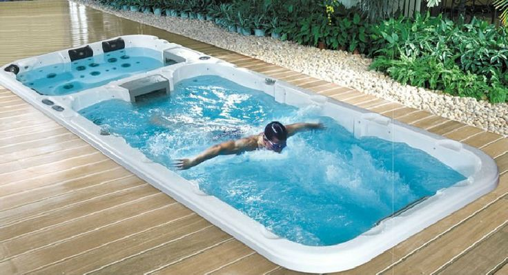 Endless Pool with separate hot tub
