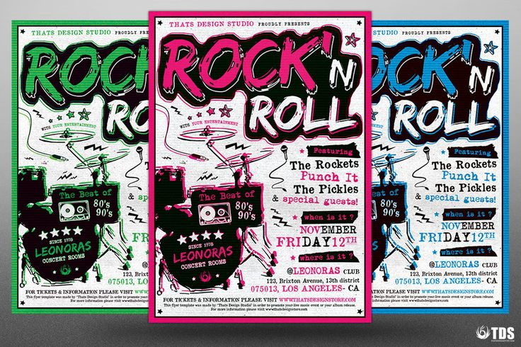 Rock Festival Flyer Template PSD