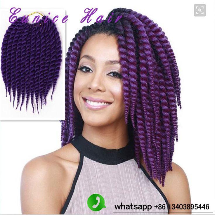 "Bouncy HAVANA MAMBO Twist Crochet BraidS One Pack 12Strands/Pack Short 12"" Havana Jumbo TWIST HAIR-001, Senegal Twist BOX BRAID"