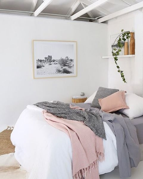 A beautiful bedroom styled and photographed by @villastyling !