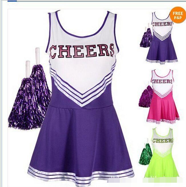 Lovely High School MUSICAL Cheerleader GIRL UNIFORM Costume 3 Colourful halloween costumes for women #Affiliate