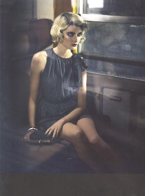 Sophie Sumner in Italian Vogue (Aug 2012). Ph. Vincent Peters.