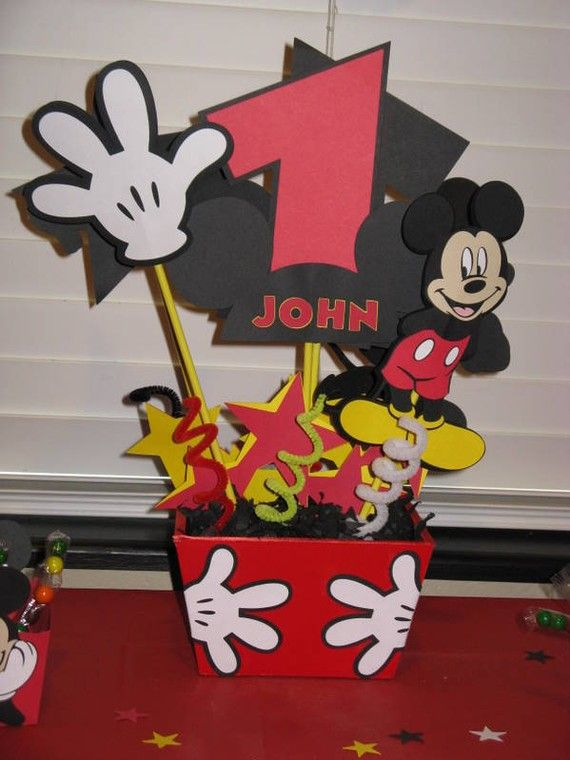 Mickey Mouse Party Center Piece by funcakestudio on Etsy, $26.00
