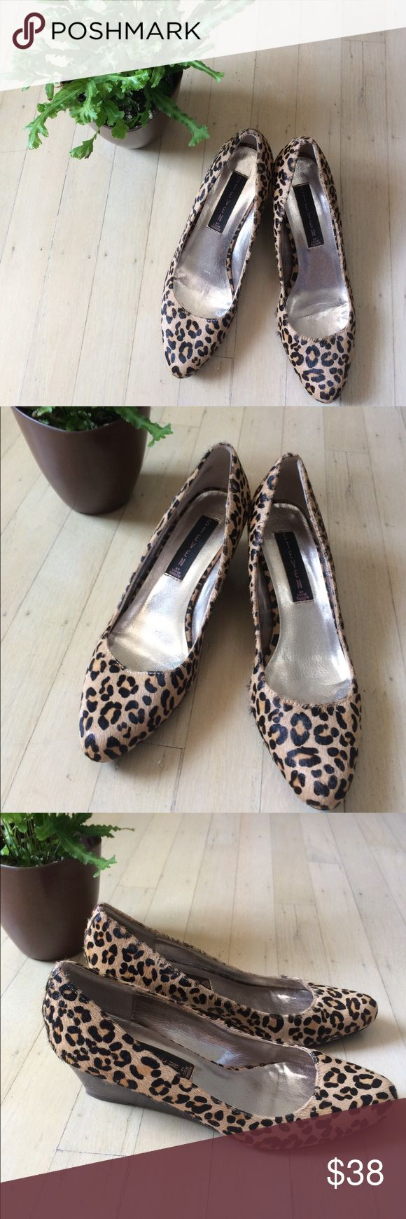 ✨🖤Steven Leopard wedge heels 🖤✨ ✨🖤Steven Leopard wedge heels 🖤✨ Preloved like new | worn once Steven By Steve Madden Shoes Wedges