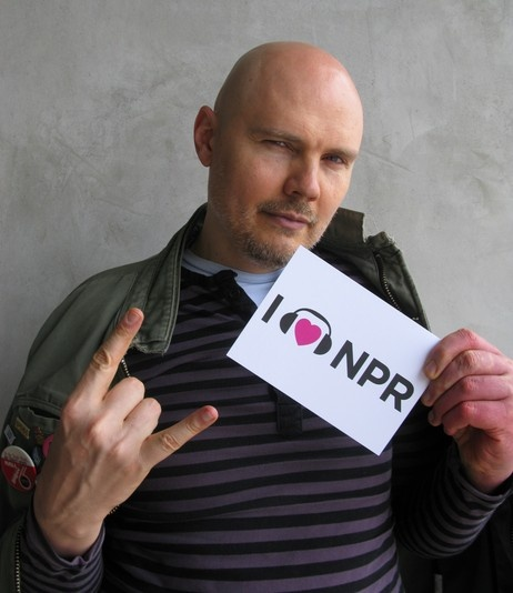 Billy Corgan rocks the NPR love. (June 2012)Heart Npr, Billy Corgan, Support Npr, Corgan Rocks, Rocks Npr